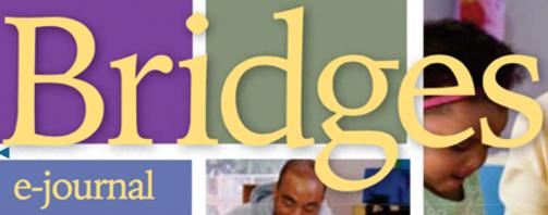 Logo that reads Bridges e-journal