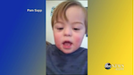 Toddler singing ABCs to the camera