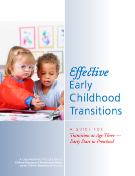 Cover of the Effective Early Childhood Transitions guide