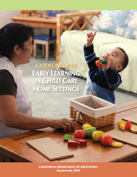 Cover of the Early Learning in Child Care Home Settings guide