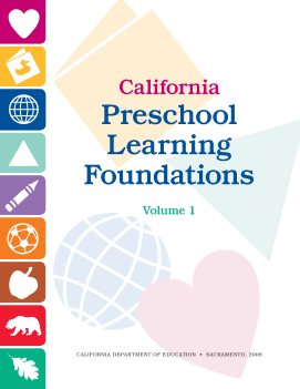 Cover of the California Preschool Learning Foundations Volume 1