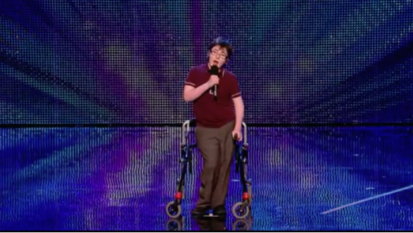 Jack Carroll performing on stage for Britain's Got Talent