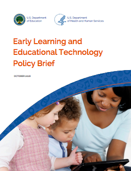 Cover of the Early Learning and Education Technology Policy Brief