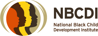 Logo of 4 children's silhouettes of various images and the words National Black Child Development Institute