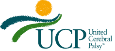 Logo of a rising sun over the land with the words United Cerebral Palsy
