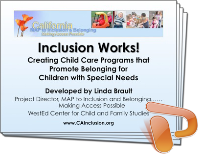 Training PowerPoint slides for Inclusion Works!