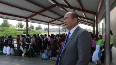 Godwin Higa, principal, Cherokee Point Elementary School