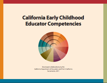 Cover of the California Early Childhood Educator Competencies