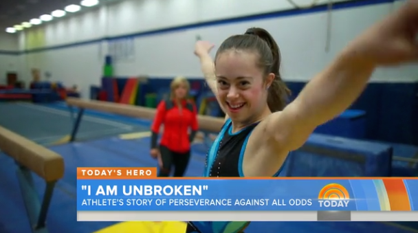 Gymnast Chelsea Werner posing for the camera