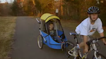 Connor and Cayden during a bicycle ride