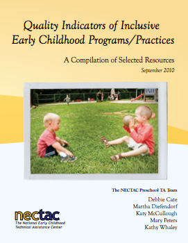 Cover of the Quality Indicators of Inclusive Programs/Practices