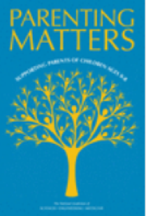 Image of a yellow tree with the words Parenting Matters