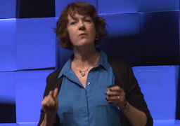 Dr. Gallagher on stage during her TEDx Talk